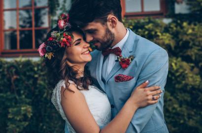 rustykalny ślub w plenerze