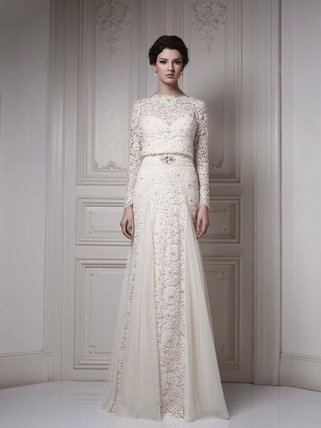 Poważne Suknie ślubne z długimi rękawami - na każdą porę roku FQ74