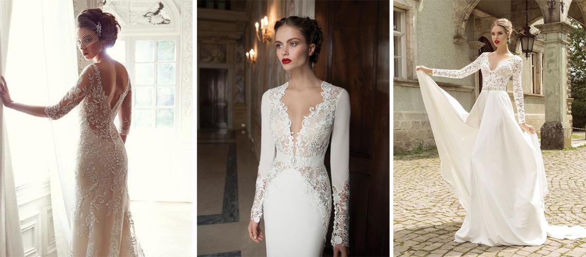 Dodatkowe Suknie ślubne z długimi rękawami - na każdą porę roku NQ37