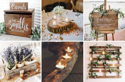 ślubne dekoracje z drewna